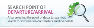 Search point of departure/arrival